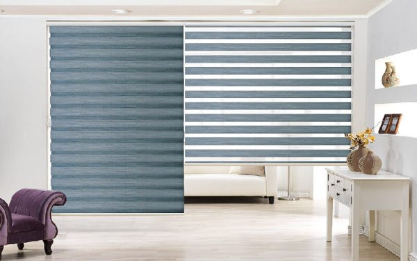 Luxdezine Window Blinds Combi Shades Monthblack Pearl