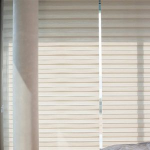 Luxdezine Window Blinds Combi Shades White Bed Room Closed