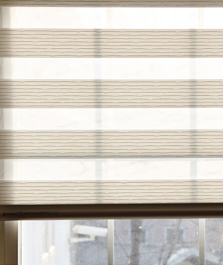 Luxdezine Window Blinds Combi Shades White Living Room Details Open