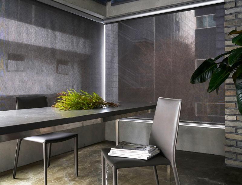 Luxdezine Window Blinds Roll Screen Black Living Space