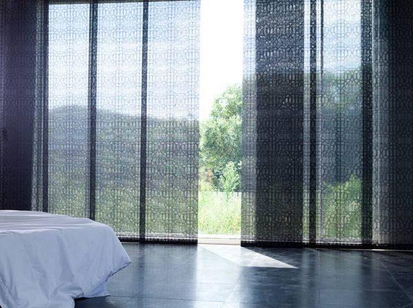 Luxdezine Window Blinds Rool Screen Shades Black Living Room Low