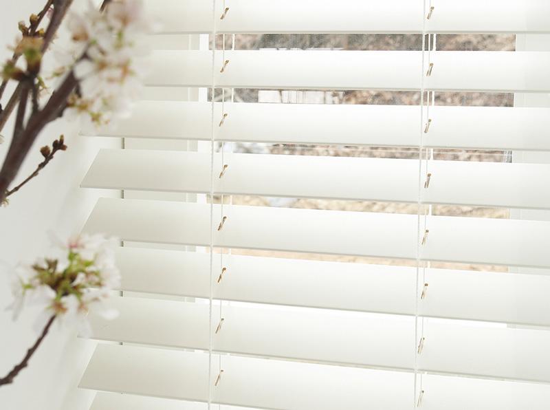 Luxdezine Window Blinds Wood Modern White