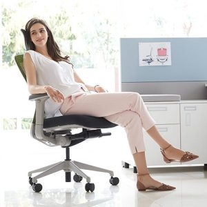 Luxdezine Woman Sitting Ergonomic Office Chair