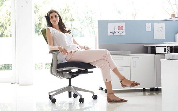 Luxdezine Woman Sitting Ergonomic Office Chair