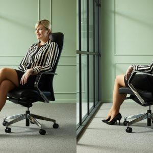 Luxdezine Woman Sitting Executive Chair Black Comfortable