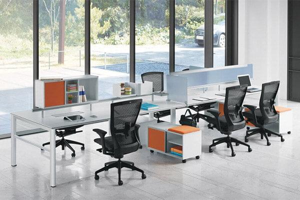 Furniture Modern Empty Office Workstation