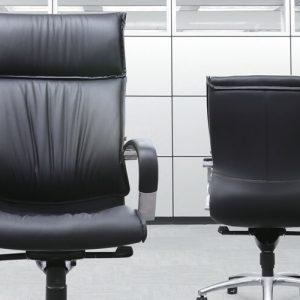 Luxdezine Black 2 Leather Executive Chair