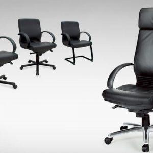 Luxdezine Black 4 Executive Chair Leather