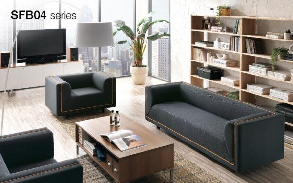 Luxdezine Black Brown Lining Sofa Wood Table