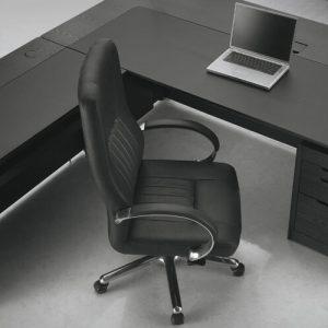 Luxdezine Black Executive Chair Executive Table Laptop