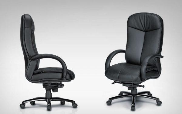 Luxdezine Black Leather 2 Extra Cushion Executive Chair