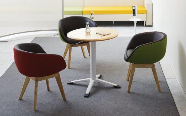 Luxdezine Black Sofa White Table