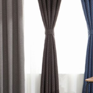 Luxdezine Blackout Curtains Linenlook Silver