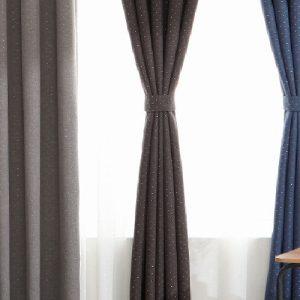 Luxdezine Blackout Curtains Linenlook Silver