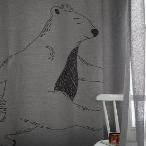 Luxdezine Blackout Curtains Walking Bear
