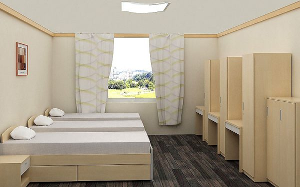 Luxdezine Triple Bed Furniture Study Table Cabinet