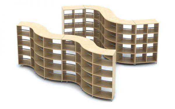 Luxdezine Library Book Shelf Cool Design Furniture