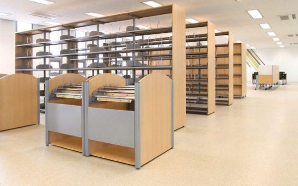 Luxdezine Library Furniture Shelf Fixtures