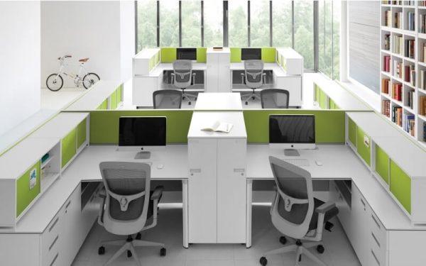 Luxdezine Modern White Office Furniture