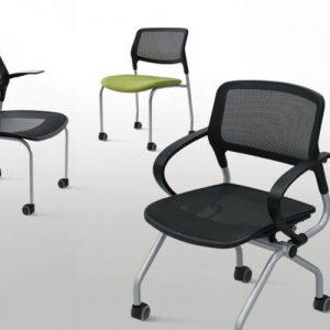 Luxdezine Multi Use Chair Black With Wheels