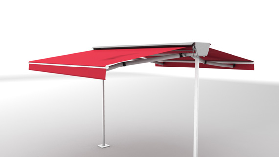 Luxdezine Plaza Awning 3D Red White