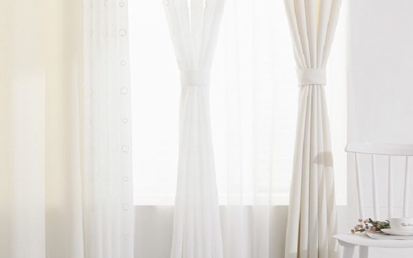 Luxdezine Sheer Curtains Brant Silver