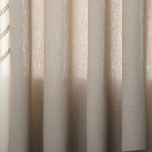 Luxdezine Sheer Curtains Natural Linen Look Silver
