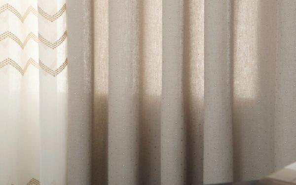 Luxdezine Sheer Curtains Natural Linen Look Silver