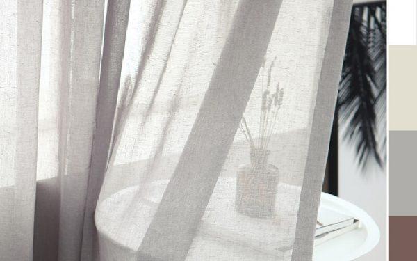 Luxdezine Sheer Curtains Rove Linen