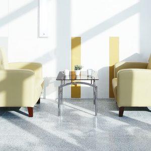 Luxdezine Sofa Table Glass Cream White