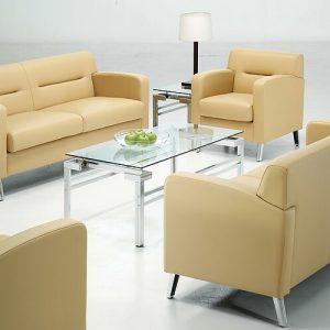 Luxdezine White Cream Sofa Set Glass Table