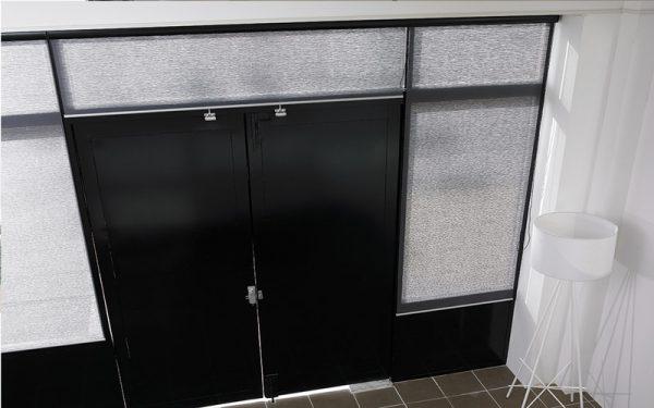 Luxdezine Window Blinds Roll Screen Shades Grey Small Door