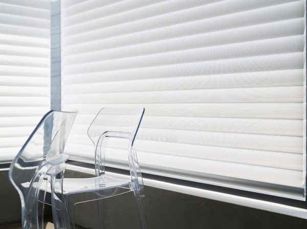 Luxdezine Window Blinds 3D Shade Privacy Chair White
