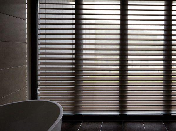 Luxdezine Window Blinds 3D Shade White Bath Dim