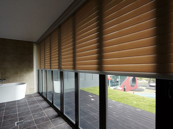 Luxdezine Window Blinds 3D Shade White Bath Open