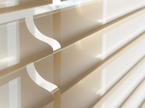 Luxdezine Window Blinds 3D Shade White Dining Room Zoom Details