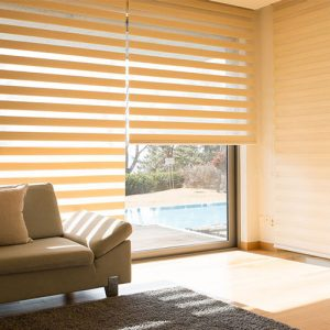 Luxdezine Window Blinds Combi Shades Bedroom White Sunlight