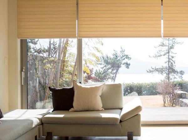 Luxdezine Window Blinds Combi Shades Bedroom White Zoom Open
