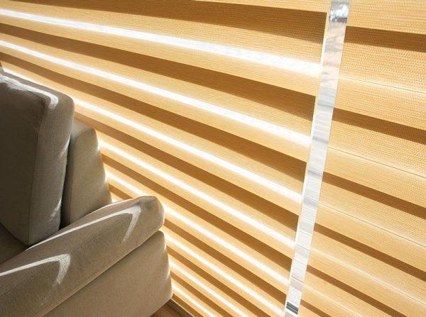 Luxdezine Window Blinds Combi Shades Bedroom White Zoom Up