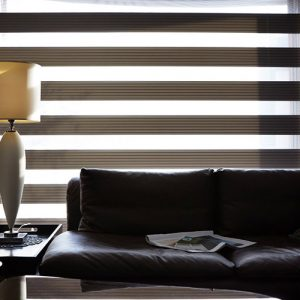 Luxdezine Window Blinds Combi Shades Black Dim Reflection Table