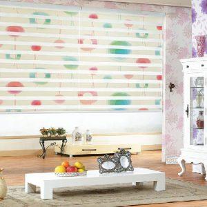 luxdezine Window Blinds Combi Shades Dual Graphic
