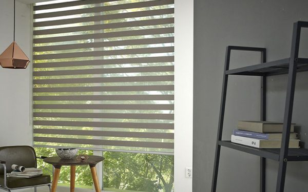 Luxdezine Window Blinds Combi Shades Interior Hlaf Open Living Space