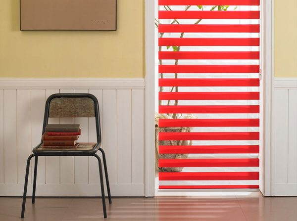 Luxdezine Window Blinds Combi Shades Interior Orange Zoom Center