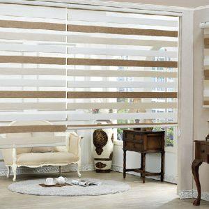 Luxdezine Window Blinds Combi Shades Line Sherbet