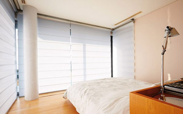 Luxdezine Window Blinds Combi Shades White Bright Zoom Out