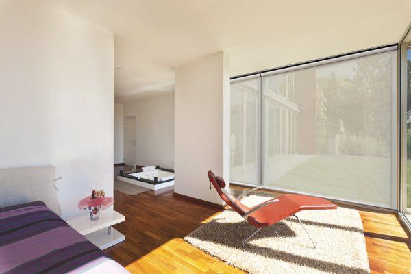 Luxdezine Window Blinds Roll Screen Interior White
