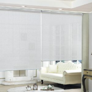 Luxdezine Window Blinds Roll Screen Natural Fabric