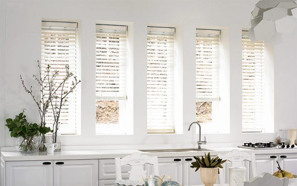 Luxdezine Window Blinds Wood Modern White