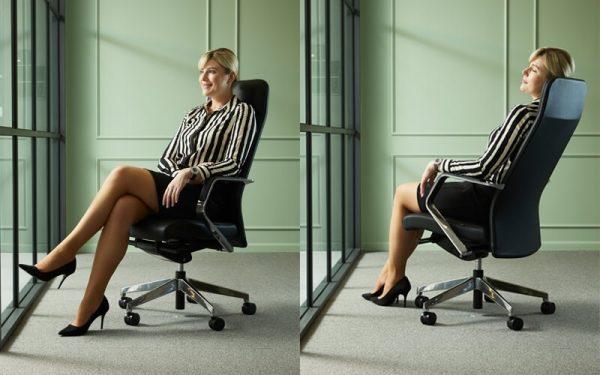 Luxdezine Woman Sitting Executive Chair Black Comfortable